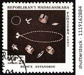 madagascar   circa 1994  a... | Shutterstock . vector #1119162884