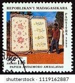 madagascar   circa 1994  a... | Shutterstock . vector #1119162887