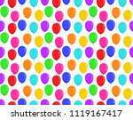 color balloons seamless pattern ... | Shutterstock .eps vector #1119167417