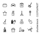 cleaning icons vector | Shutterstock .eps vector #1119169637