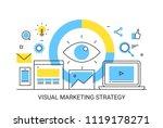 visual marketing  digital... | Shutterstock .eps vector #1119178271