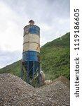concrete mixer in river valley | Shutterstock . vector #1119186605