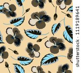 spring paper with abstract cute ...   Shutterstock .eps vector #1119189641