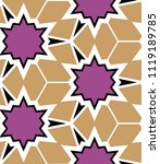 seamless geometric pattern with ...   Shutterstock .eps vector #1119189785