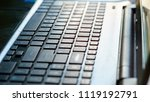 close up of keyboard of a... | Shutterstock . vector #1119192791