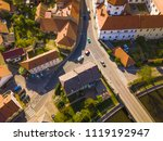 aerial view of two roads and... | Shutterstock . vector #1119192947