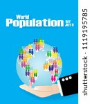 illustration of a world... | Shutterstock .eps vector #1119195785