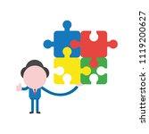 vector illustration businessman ... | Shutterstock .eps vector #1119200627