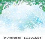 vector  christmas background. ... | Shutterstock .eps vector #1119202295
