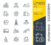 lineo editable stroke   oil and ... | Shutterstock .eps vector #1119203894