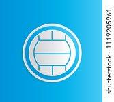 volleyball icon vector design | Shutterstock .eps vector #1119205961