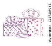 gifts boxes presents with hat... | Shutterstock .eps vector #1119209165