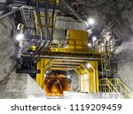 chute galleries underground mine | Shutterstock . vector #1119209459