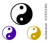 sign of chinese philosophy of... | Shutterstock .eps vector #1119211301