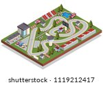 race track. isometric. isolated ... | Shutterstock .eps vector #1119212417