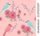 seamless pattern with gerberas  ... | Shutterstock .eps vector #1119222107