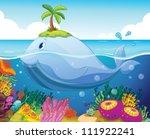 illustraion of a fish  island... | Shutterstock .eps vector #111922241