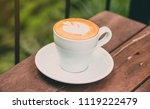 hot coffee with sweet cake... | Shutterstock . vector #1119222479