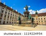 kaiser franz monument in vienna ...   Shutterstock . vector #1119224954