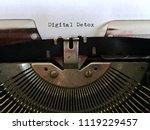 digital detox  heading title... | Shutterstock . vector #1119229457