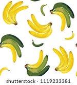 seamless pattern of yellow...   Shutterstock .eps vector #1119233381
