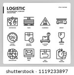 logistic icon set  | Shutterstock .eps vector #1119233897