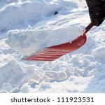 Removing Snow With A Shovel...