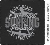 vintage label design with...   Shutterstock .eps vector #1119240914