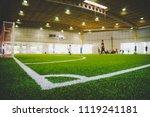 corner line of an indoor... | Shutterstock . vector #1119241181