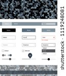 light gray vector web ui kit...