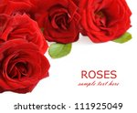 Red Roses Bouquet Isolated On...