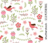seamless pattern with flowers ... | Shutterstock .eps vector #1119258581