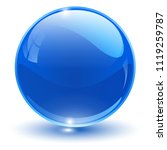 glass sphere  blue vector ball.  | Shutterstock .eps vector #1119259787