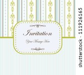 seamless blue invitation with... | Shutterstock . vector #111926165