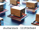 packages are transported in... | Shutterstock . vector #1119265664