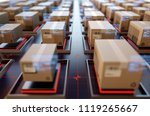 packages are transported in... | Shutterstock . vector #1119265667