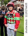 Small photo of Lady Amateur Jockey Becky Smith at York Races : The Knavesmire, York Racecourse, Nth Yorkshire, UK : 16 June 2018 : Pic Mick Atkins