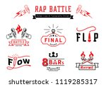 rap battle badge logo and... | Shutterstock .eps vector #1119285317