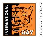 vector illustration of a tiger. ... | Shutterstock .eps vector #1119285785