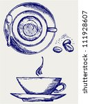 cup of coffee. doodle style | Shutterstock .eps vector #111928607