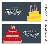 happy birthday poster... | Shutterstock .eps vector #1119299381