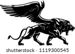 winged lion mythical creature | Shutterstock .eps vector #1119300545
