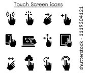 touch screen icon set   Shutterstock .eps vector #1119304121