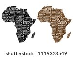 sketch african letter text... | Shutterstock .eps vector #1119323549