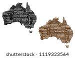 sketch australia letter text...   Shutterstock .eps vector #1119323564