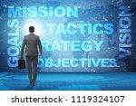 businessman in strategic... | Shutterstock . vector #1119324107