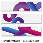 set of white banners with... | Shutterstock .eps vector #1119326405
