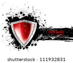 Grunge Background With Shield