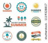 summer retro vector logo for... | Shutterstock .eps vector #1119328817