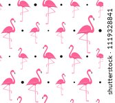 flamingo seamless pattern on... | Shutterstock .eps vector #1119328841